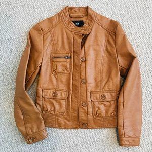 New! H&M leather moto jacket US size 4